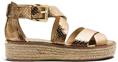 bd495b8792c Michael Michael Kors Women s Darby Leather Sandals (6.5 B (M) US ...