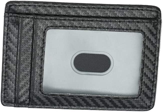 Slim Wallet for Men RFID Blocking Leather Minimalist Card Holder Black