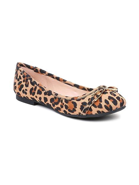 Buy Aldo Brown Leopard Print Ballerinas