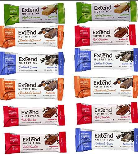 Extend Bar,15 Protein Bars, Variety Pack, High Protein Snack 1.41 oz. Bars (Pack of 15) -
