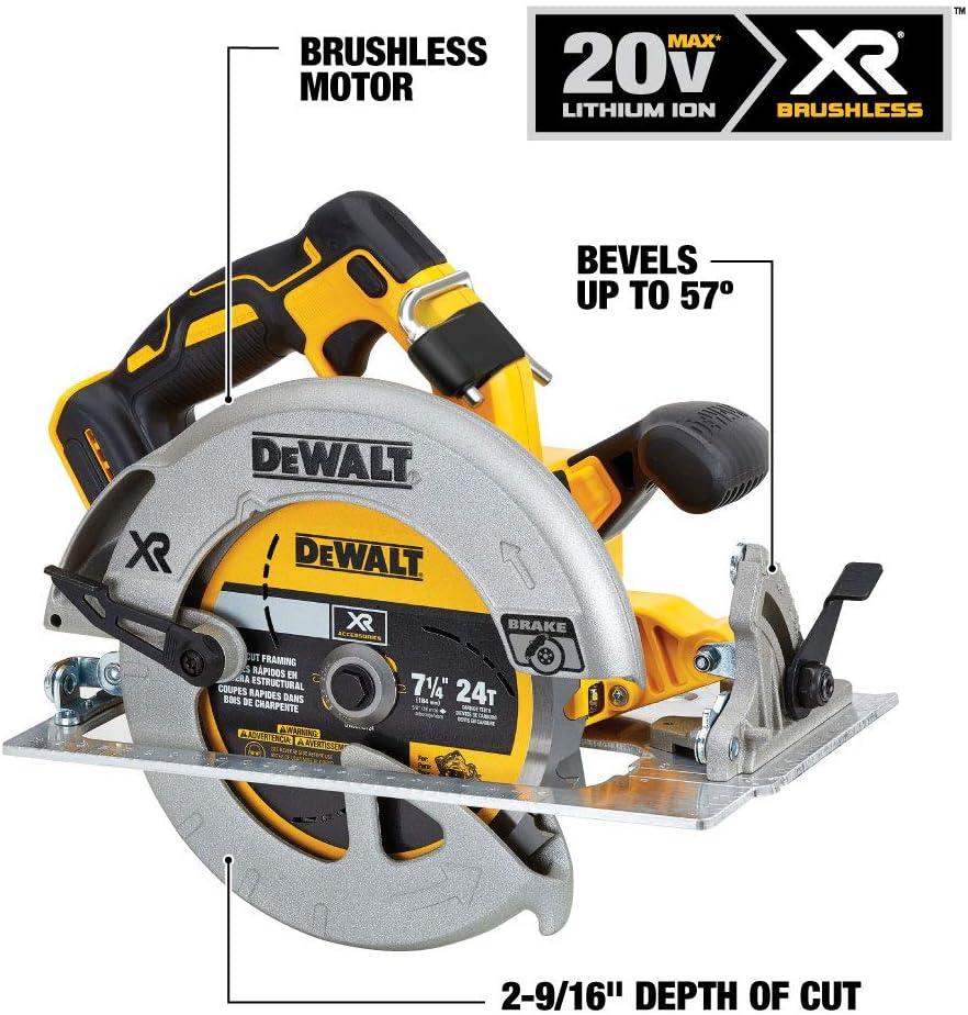 DeWalt DCS570N 18v Brushless XR 184mm Circular Saw Inc Blade Bare Tool Bag