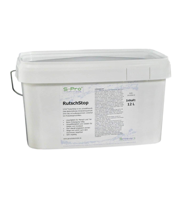S-Pro® RutschStop Winterstreugranulat Eimer 10 Liter - abstumpfende Streusalz-Alternative ohne Tauwirkung - absolutes Naturprodukt - bodenverbessernd