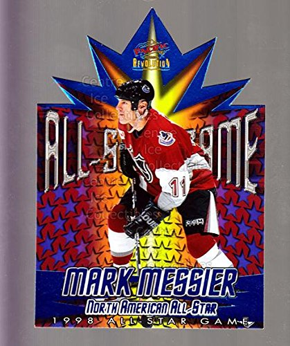 1997 Nhl All Star Game ((CI) Mark Messier Hockey Card 1997-98 Revolution 1998 AS Game Die-Cuts 19 Mark Messier)