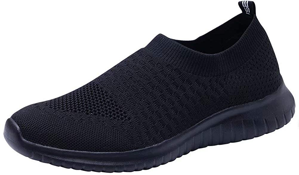 LANCROP Men s Walking Shoes- Lightweight Comfortable Mesh Slip On Sneakers