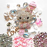 LOVEKITTY DIY 3D Rhinestones Kitty Cell Phone