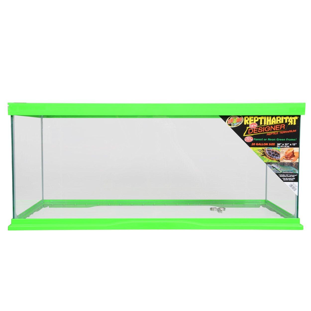 Zoo Med 78083 Reptihabitat Designer Terrarium, 20 Gallon, Neon Green by Zoo Med