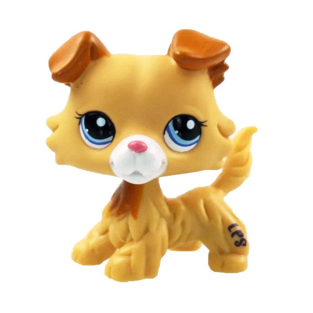Cute LPS Pet Dog figure Toy, Mamum rare Littlest Pet Shop Cream tan Brown Short Hair Cat Heart Face Cat taglia unica Brown