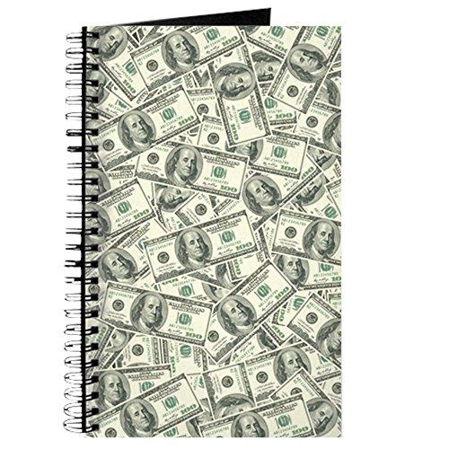 CafePress - 100 Dollar Bill Money Pattern - Spiral Bound Journal Notebook, Personal Diary, Task (Dollar Notepad)