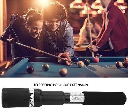 Dilwe - Extensión de Taco de Billar telescópico para Palos de Billar, Extensor de Taco de Billar para Palos de Billar de 32 cm: Amazon.es: Deportes y aire libre