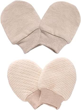 LOVARTS BEAUTY - 2 pares de guantes para recién nacidos, de algodón ecológico, para bebé, niña, niño, niño, guantes para arañazos, guantes para bebés: Amazon.es: Ropa y accesorios