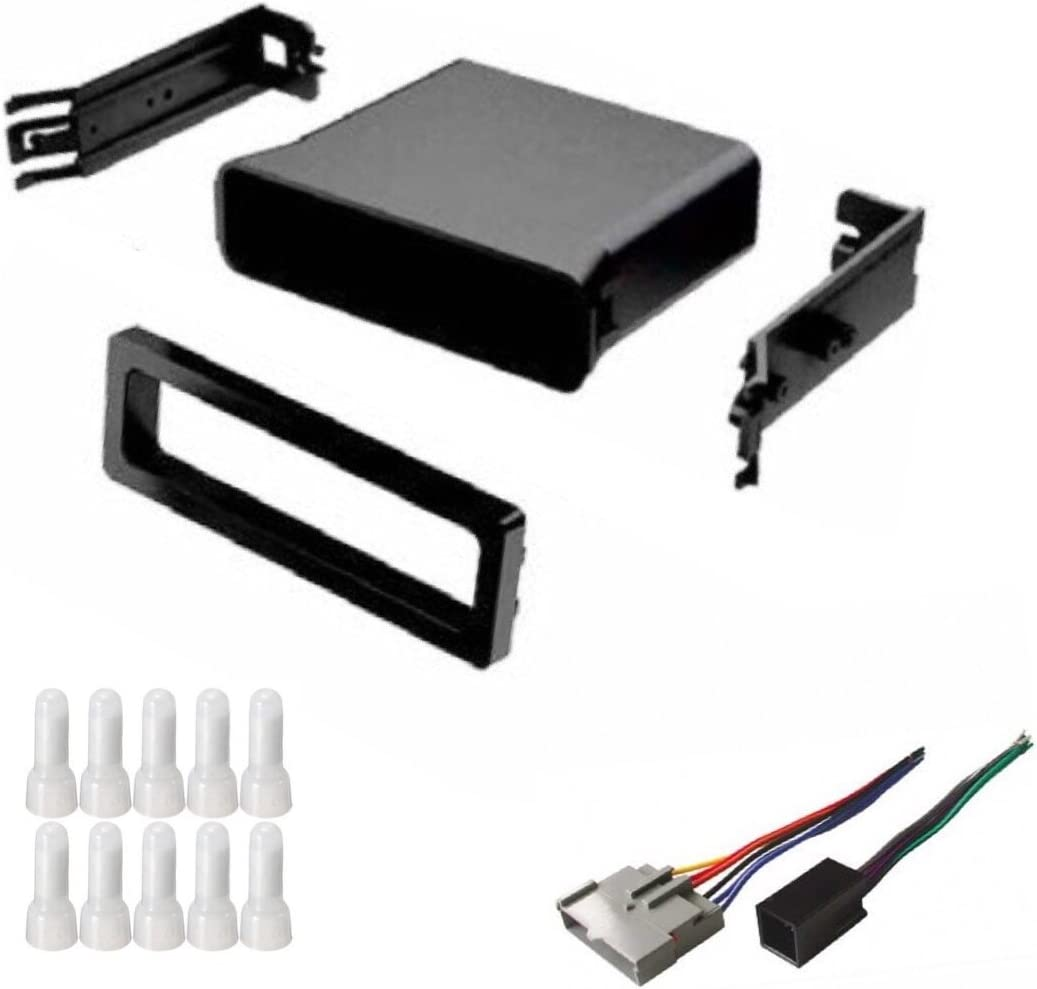 Compatible Vehicles Listed Below ASC Audio Car Stereo Dash Install Pocket Kit and Wire Harness for Installing an Aftermarket Single Din Radio for some Ford Mustang with Factory Premium Amp