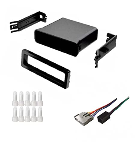 asc audio car stereo dash install pocket kit and wire harness for  installing an aftermarket single