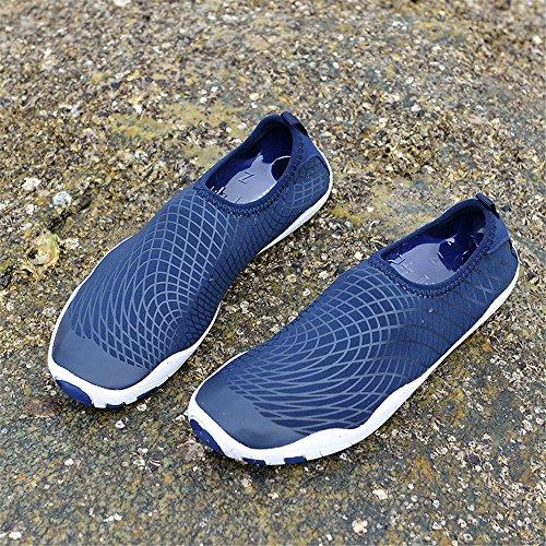 Männer und Frauen Barfuß Quick-Dry Wasser Schuhe Sport Aqua Durable Outsole Schuhe für Schwimmen Walking Yoga See Beach Garden Park Fahren Bootfahren Slip-On Skin Surf Sneakers 1768-1-blau
