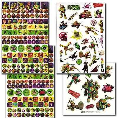 TMNT Teenage Mutant Ninja Turtles Stickers & Tattoos Party Favor Pack (270 Stickers & 50 Temporary Tattoos): Toys & Games