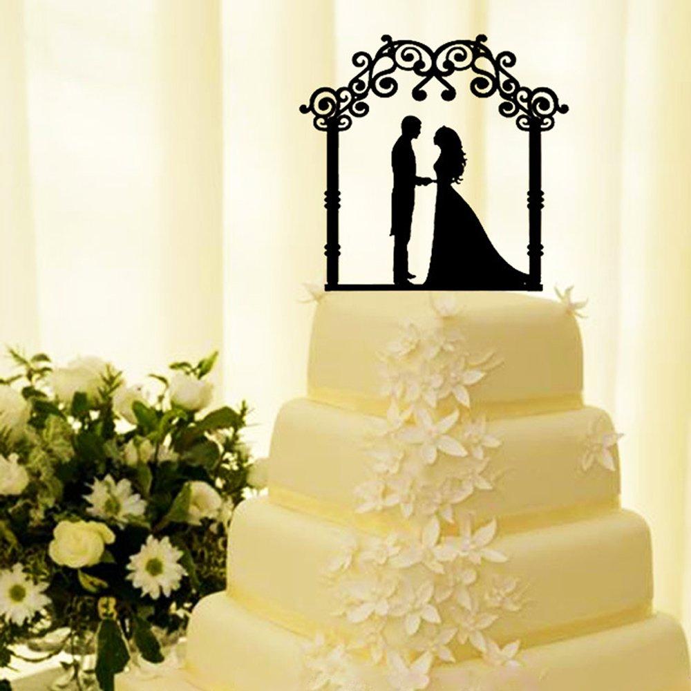 Amazon.com: Mr & Mrs Wedding Cake Topper Decoration Cake Topper ...