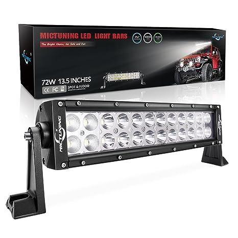 Amazon mictuning 135 inch 72w combo led light bar 5000 lumen mictuning 135 inch 72w combo led light bar 5000 lumen 6000 6200k crystal aloadofball Choice Image