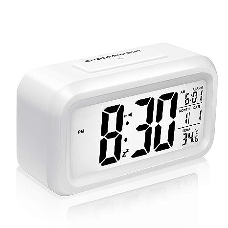 Mogomiten Reloj Despertador Digital, Reloj Despertador Inteligente con Alarma para Niños, Reloj Repeticion activada
