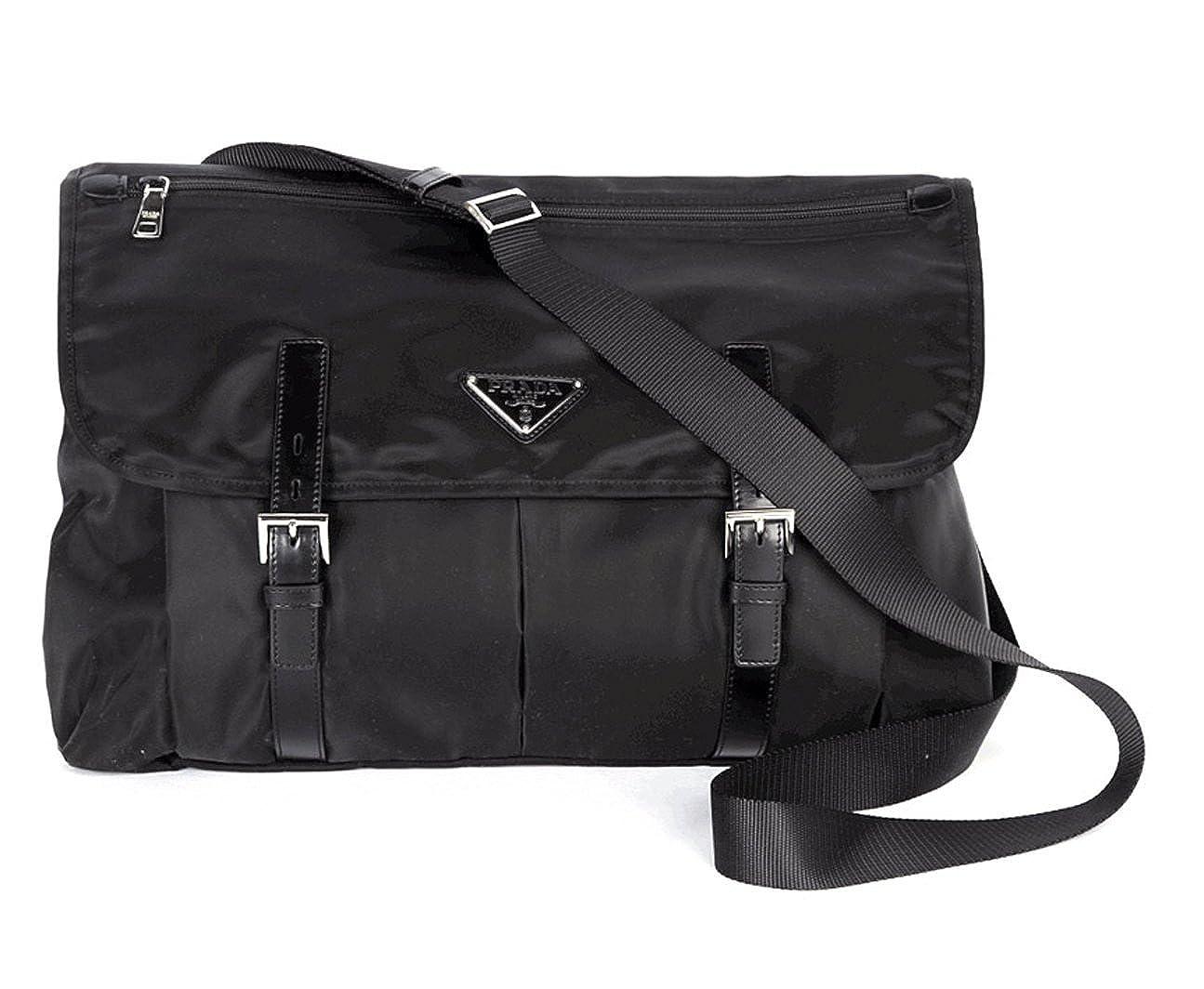 8a8666fceb2fae Prada Nylon Messenger Bag BT0696 Black: Amazon.co.uk: Shoes & Bags