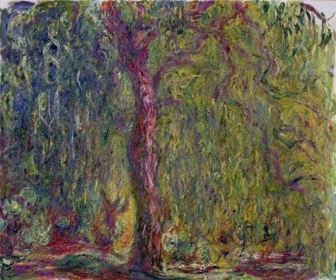 Oil Painting 'Weeping Willow, 1918-1919 By Claude Monet', 8 x 10 inch / 20 x 24 cm , on High Definition HD canvas prints is for Gifts And Dining Room, Kids Room And Living Room Decoration