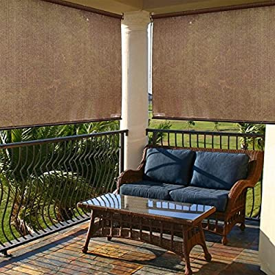 "Radiance 2310010 Exterior Solar Shade with 85% UV Ray Protection, 4-Foot Wide by 6-Foot Long, Cocoa - RADIANCE PATIO CURTAINS:  The Radiance Exterior Solar sunshade offers up to 85% UV protection to prevent the sun's rays from damaging your skin and patio furniture. The curtains significantly reduce the heat gain in your home with radiance sunshades SIZE OPTIONS:  The radiance exterior solar cover with three different sizes are 48"" W x 72"" l, 60"" W x 72"" L  and 72"" W x 72"" L RADIANCE HIGH QUALITY: The radiance exterior solar sunshade made of 100% polyethylene. Suitable for both indoor and outdoor use - shades-parasols, patio-furniture, patio - 61AOUIQ3FzL. SS400  -"
