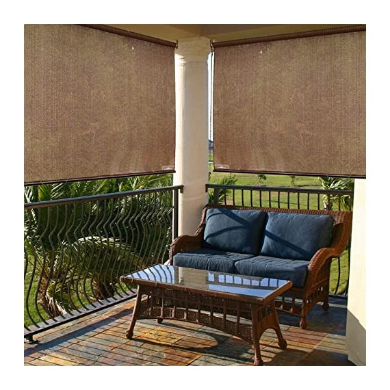 """Radiance 2310010 Exterior Solar Shade with 85% UV Ray Protection, 4-Foot Wide by 6-Foot Long, Cocoa - RADIANCE PATIO CURTAINS:  The Radiance Exterior Solar sunshade offers up to 85% UV protection to prevent the sun's rays from damaging your skin and patio furniture. The curtains significantly reduce the heat gain in your home with radiance sunshades SIZE OPTIONS:  The radiance exterior solar cover with three different sizes are 48"""" W x 72"""" l, 60"""" W x 72"""" L  and 72"""" W x 72"""" L RADIANCE HIGH QUALITY: The radiance exterior solar sunshade made of 100% polyethylene. Suitable for both indoor and outdoor use - shades-parasols, patio-furniture, patio - 61AOUIQ3FzL. SS570  -"""