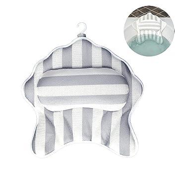 Bath Pillow Premium Waterproof Bath Pillow Cushion with Non-Slip Suction Cups