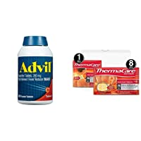 Advil (300 Count), 200mg Ibuprofen and ThermaCare Advanced Back Pain (L-XL Size)...