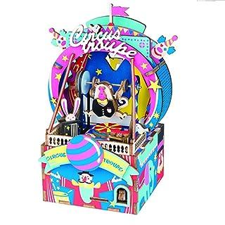 QIQI in Legno Musica Box casa Ornamenti DIY assemblato Musica Box Natale San Valentino Compleanno Vari Regali Vacanza