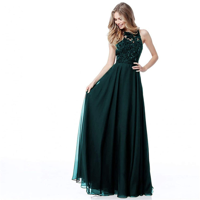 Dark Green Ruiyuhong Women's Sexy Backless Bridesmaid Dresses Long Wedding Party Gown