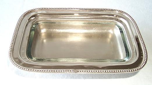 Elegante Mantequera con Pieza vídrio de plata, Caja de caviar: Amazon.es: Hogar