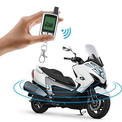 Festnight Sistema de Alarma de Motocicleta de 2 vías con ...
