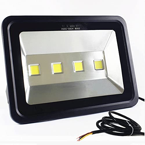 LED Flood Light Outdoor Waterproof AIN YONG 2020 New Design 6000K Super Bright White Light 200W Flood Lights Suitable for Large Area Lighting Garage Light Courtyard Light 2 Year Warranty