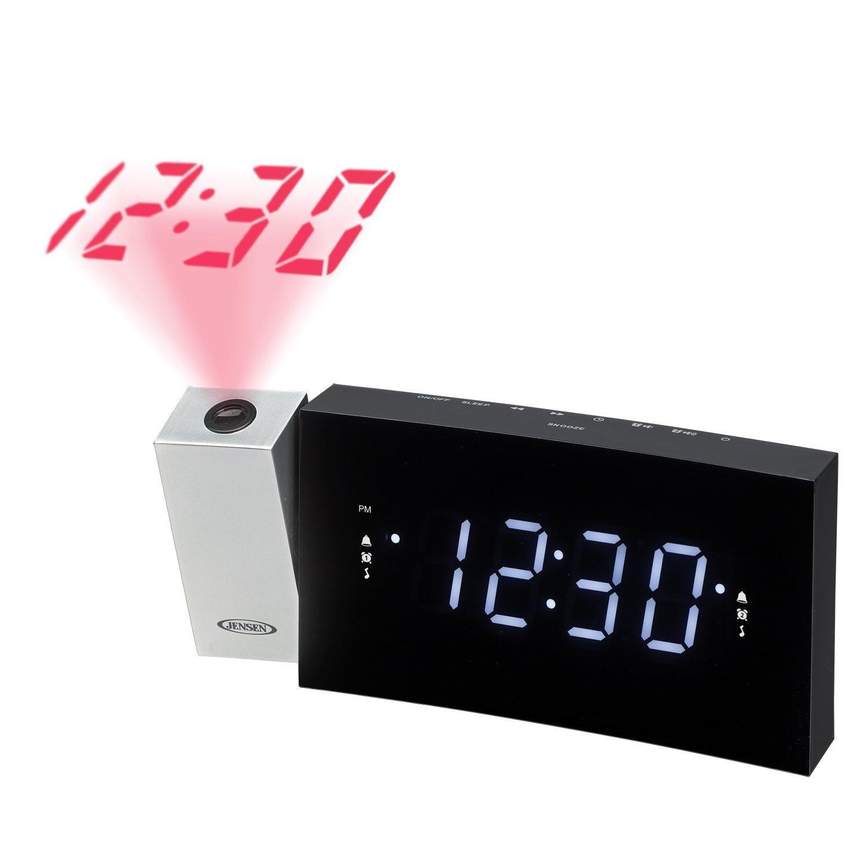 JENSEN JCR-238 Digital Dual Alarm Projection Clock Radio Inc.