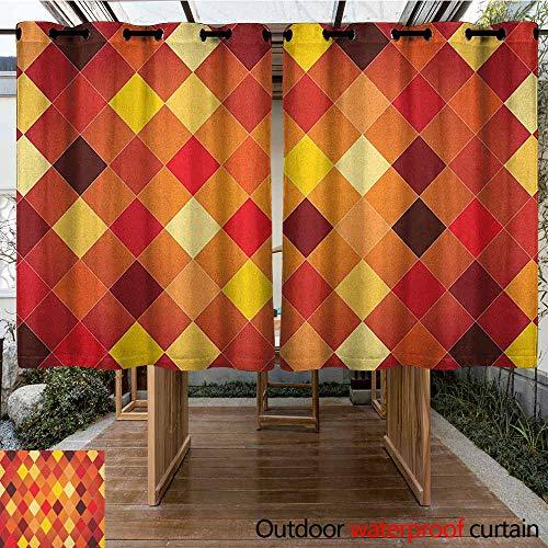 - AndyTours Pergola Curtain,Geometric,Argyle Pattern with Colorful Rhombuses Classic Lozenge Geometric Arrangement,for Porch&Beach&Patio,K160C183 Multicolor
