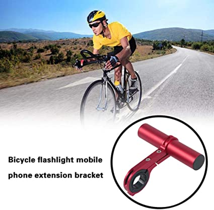 1Pc Bike Bicycle Handle Bar Extender Flashlight Mount Lamp Computer Phone Holder