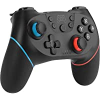 Diswoe Manettes pour Switch/Switch Lite, Manette sans Fil pour Nintendo Switch, 6 Axes Manette Pro Switch de Jeu avec Bluetooth/Turbo/Double Moteur pour Switch Pro et Switch Lite et PC