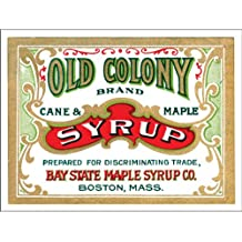 Old Colony Syrup Metal Sign: Kitchen Decor Wall Accent