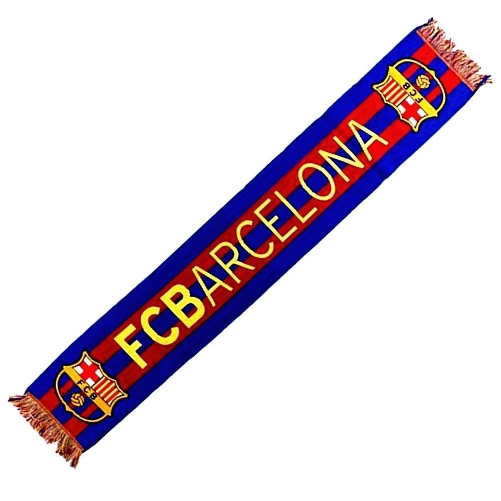 Official FC Barcelona Scarf, Horizontal 2016- 140 x 20 cm
