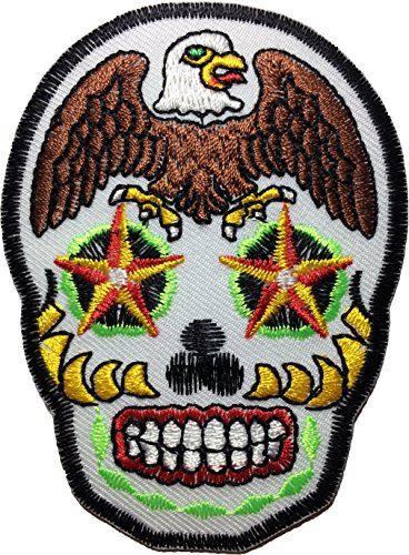 Eagle Sugar Skull heavy metal Logo Jacket Vest shirt hat blanket backpack (Sugar Cane Mirror)