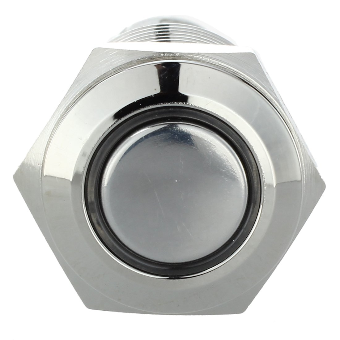 SODIAL 12V Druckschalter Drucktaster Schalter Vandalismusschalter Led 16mm Weiss Neu R