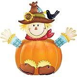 Fall Scarecrow with Crow Pumpkin Poke-Ins