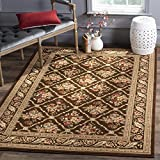 Safavieh Lyndhurst Collection LNH556-2525 Traditional Floral Trellis Brown Area Rug (8′ x 11′) For Sale