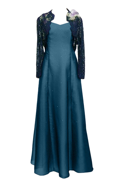 (ウィーン ブライド)Vienna Bride パーティードレス 2点セット 披露宴用母親ドレス ボレロ付き 2つタイプ 花飾り 花飾りなし 多色 結婚式 ママのドレス ロングドレス 新婦の母ドレス B078N72L6J 17W インクブルー インクブルー 17W