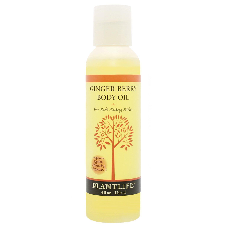 Ginger Berry Body Oil with Vitamin E, Apricot & Jojoba- 4 oz.