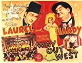 Way Out West POSTER Movie (1937) Style A 11 x 14 Inches - 28cm x 36cm (Stan Laurel)(Oliver Hardy)(Rosina Lawrence)(James Finlayson)(Sharon Lynne)(ZaSu Pitts)(Thelma Todd)