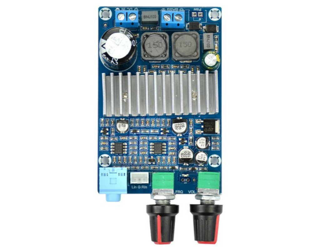Amazon.com: AOSHIKE TPA3116 DC 12-24v 100W Subwoofer Amplifier Board ...