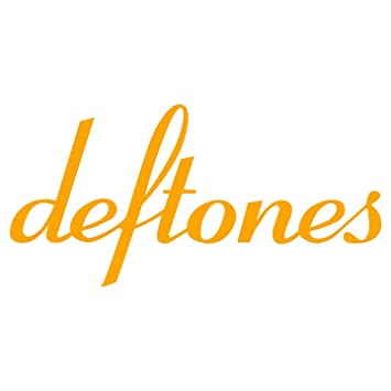 Deftones rock band car laptop die cut sticker decal golden yellow 4