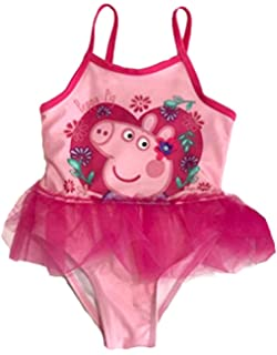 ec905714bc03d Dreamwave Peppa Pig Toddler Little Girls Swimsuit and Rash Guard Top Set