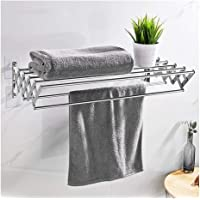 Clothes Drying Racks,Living Room Stainless Steel Towel Rail Drying Rack with 7 Rails for Bathroom and Kitchen Wall…