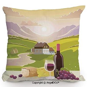 Amazon.com: AngelDOU - Cojín para sofá de lino y algodón ...